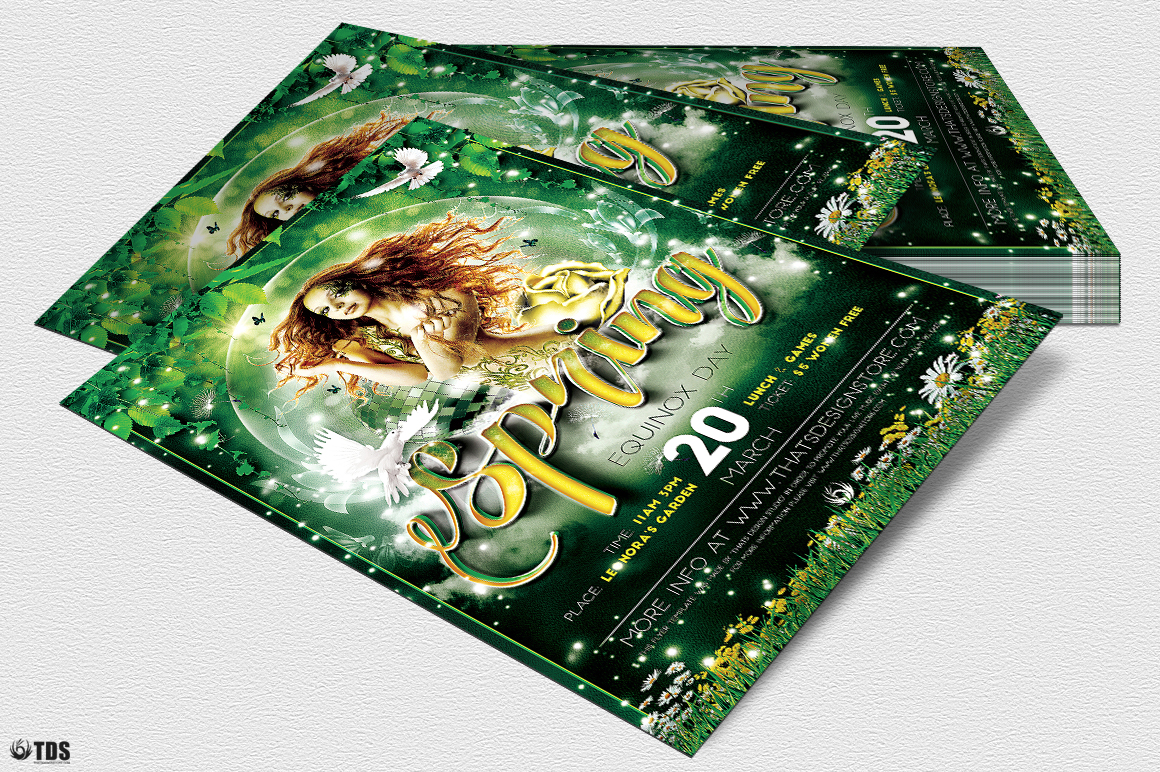 Spring Equinox Flyer Template V2 example image 4
