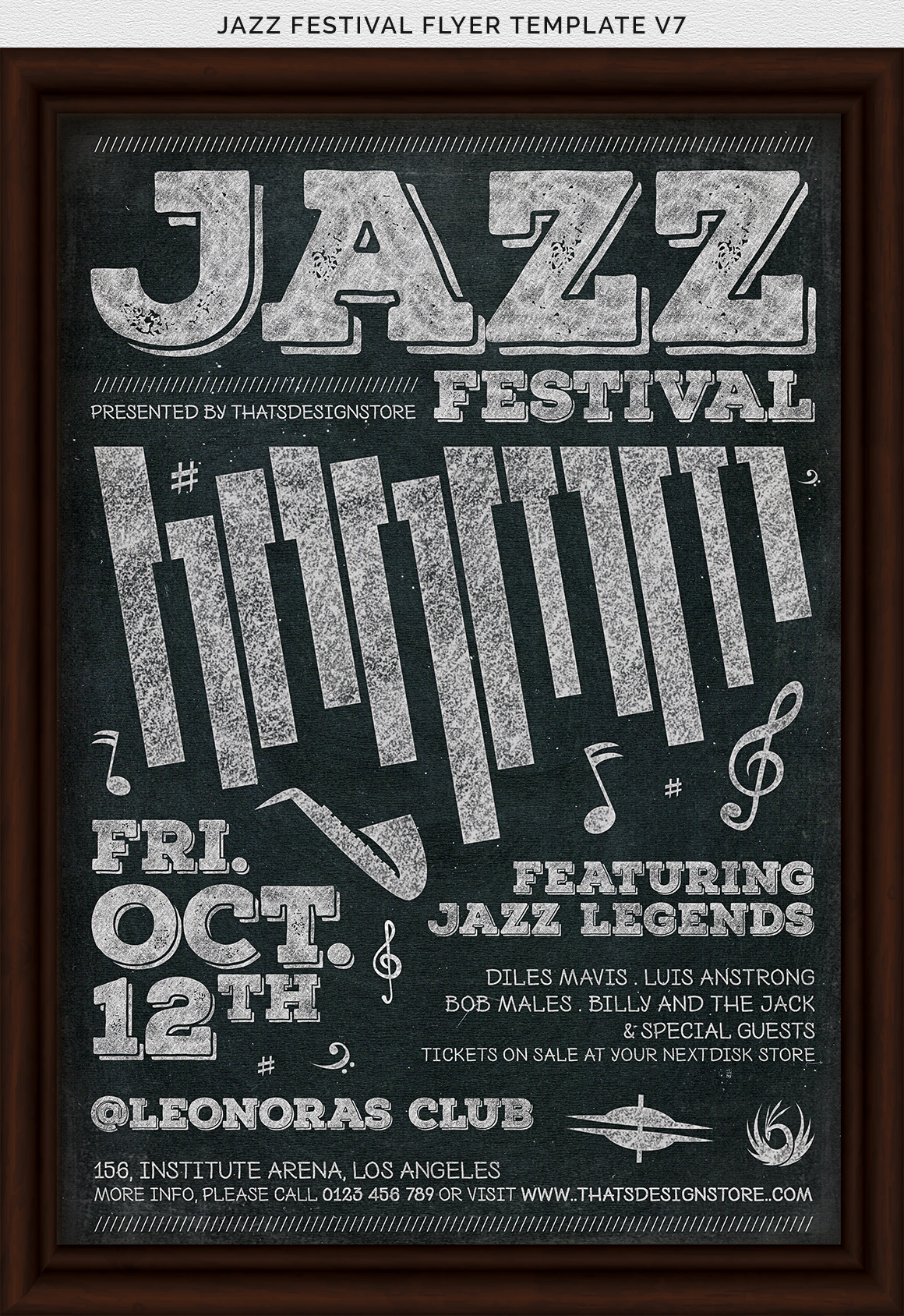 Jazz Festival Flyer Template V7 example image 7