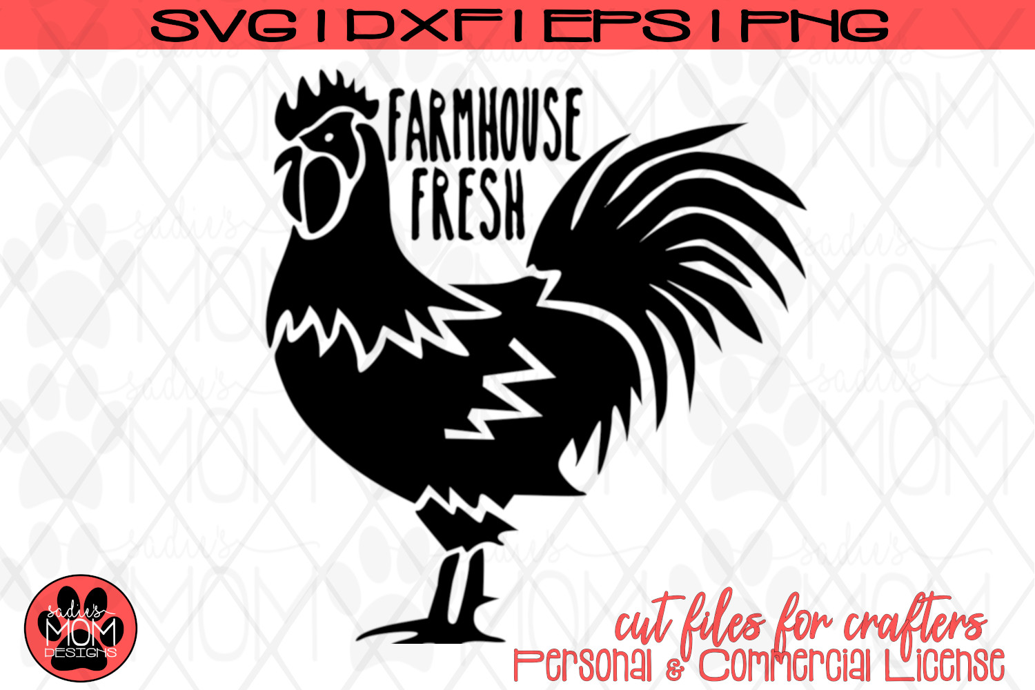 Farmhouse Fresh Rooster | SVG Cut File example image 2