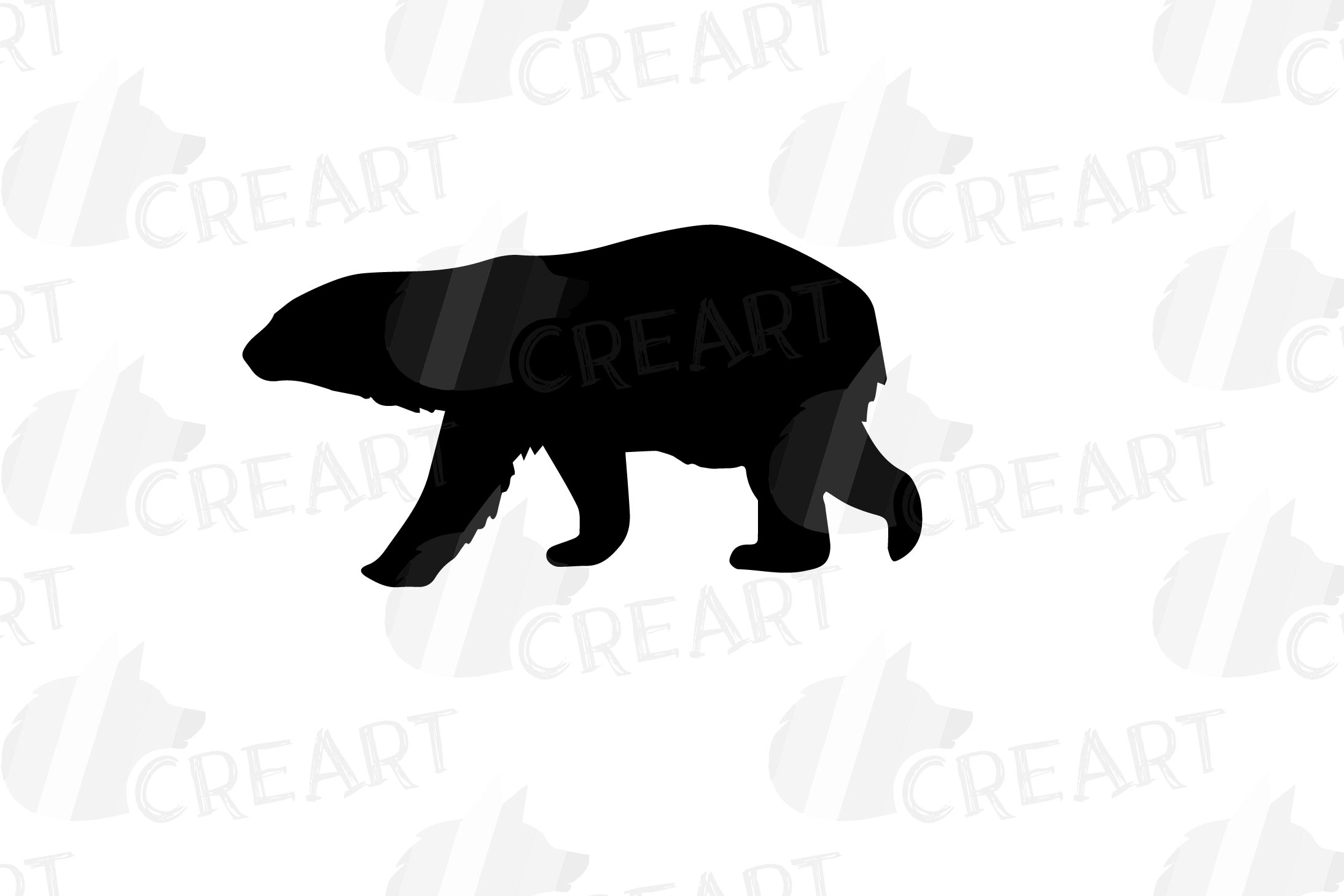 Baby and mama bear nursery clip art collection, bears print example image 10