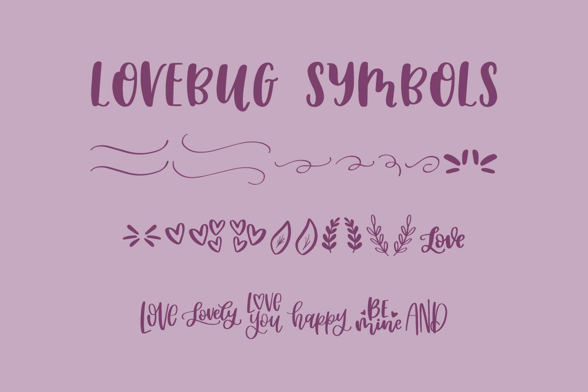 Lovebug Hand Lettered Font Trio, Valentine's Heart Font example image 13