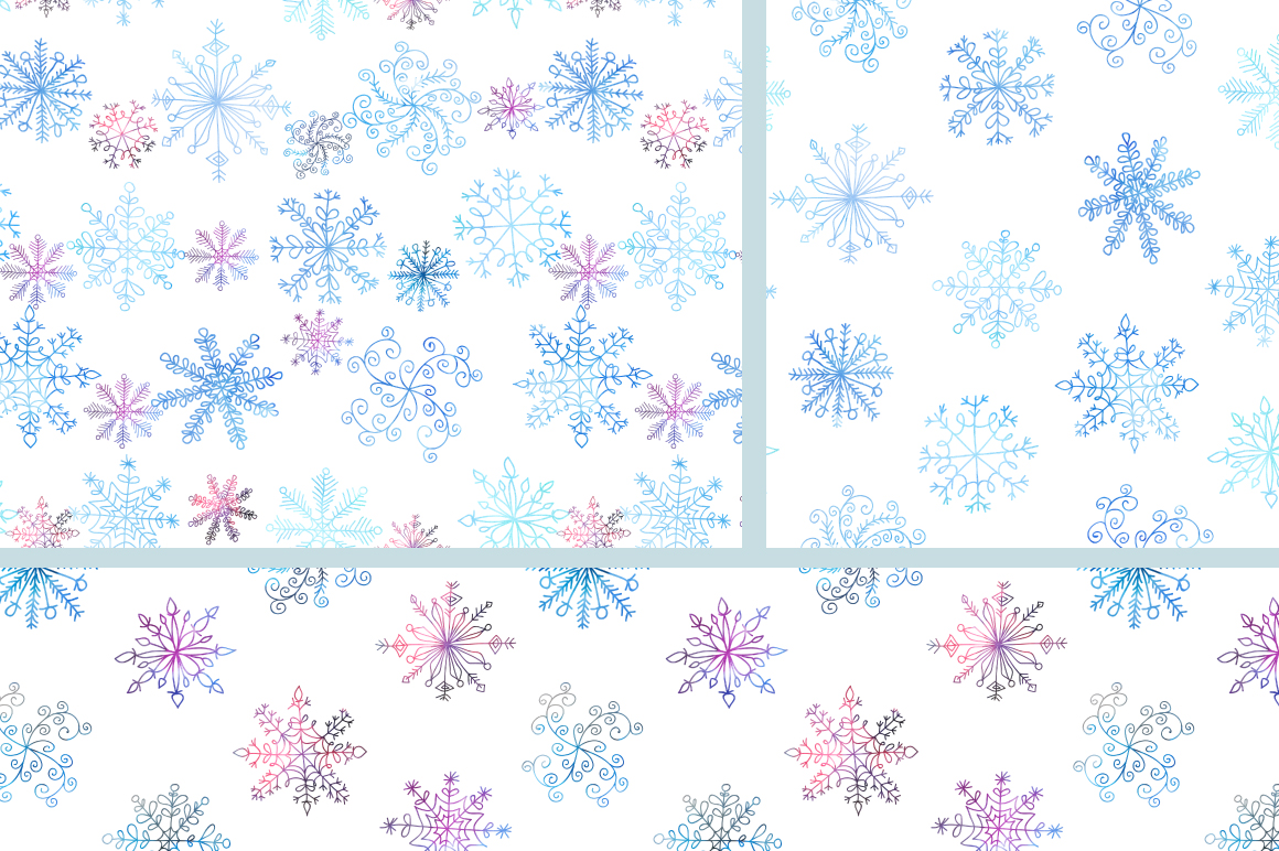 Watercolor Snowflakes Set Vol.1 example image 4