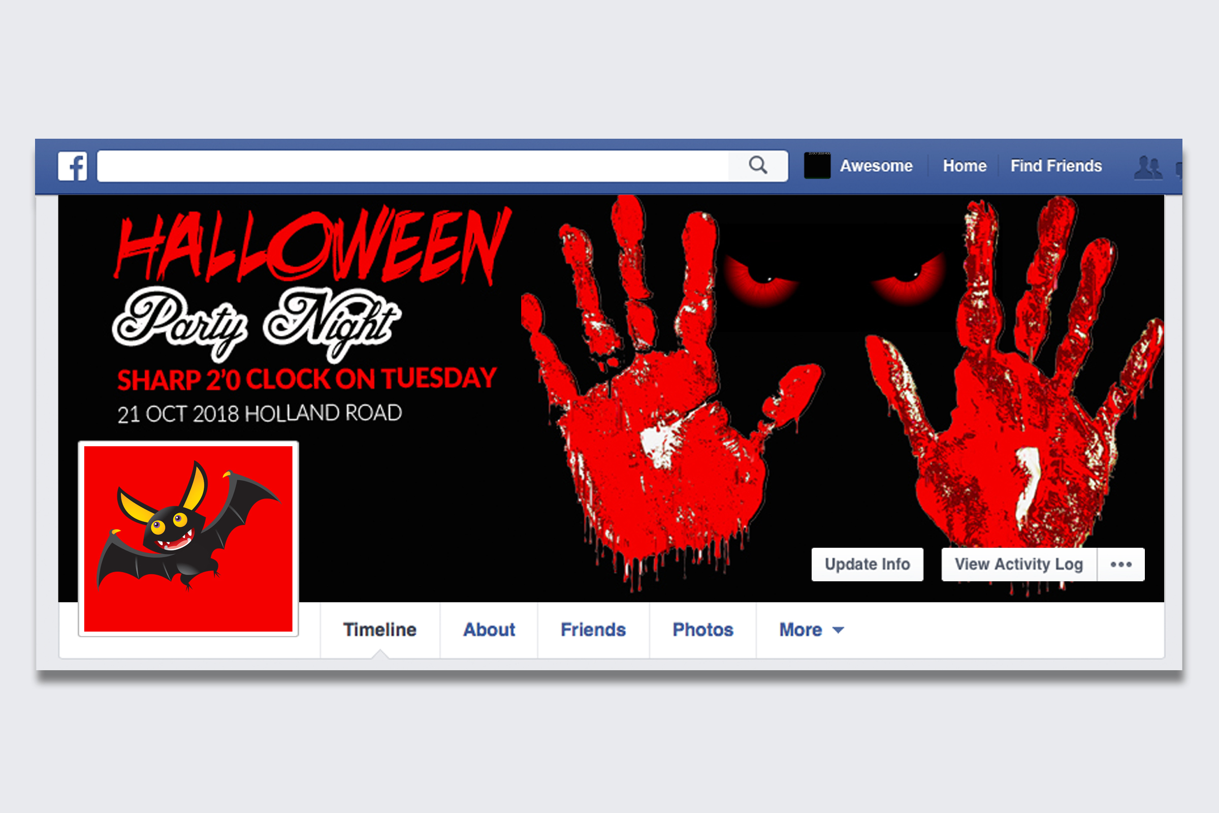 10 Halloween Facebook Timeline Cover Bundle example image 3