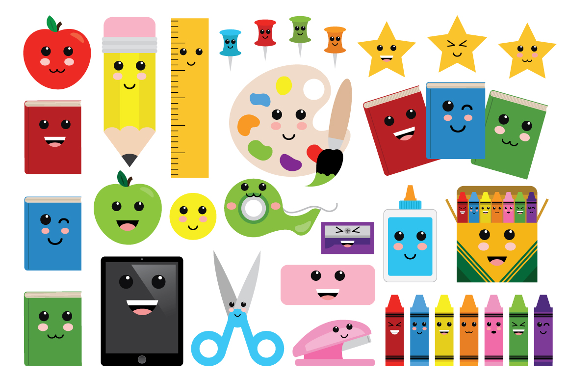 Cute Classroom Back To School Clip Art Set example image 2