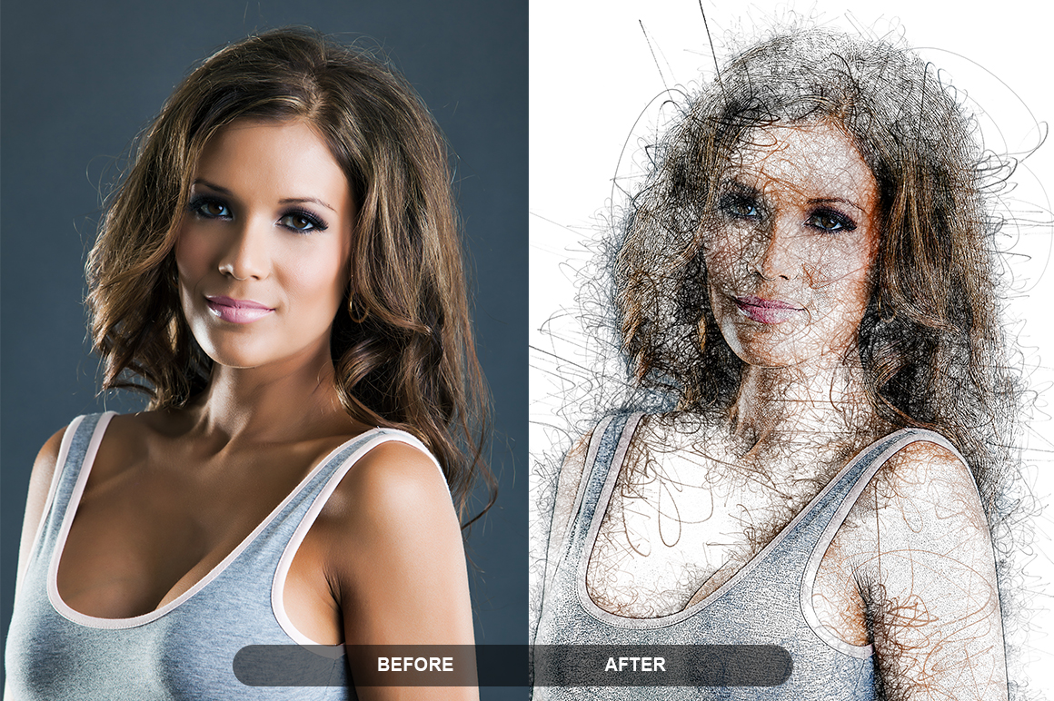 Pen Sketch Photoshop Action example image 5