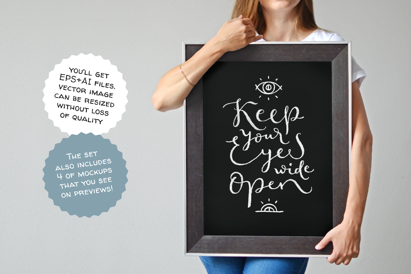 Chalk Lettering Set, Vector example image 7
