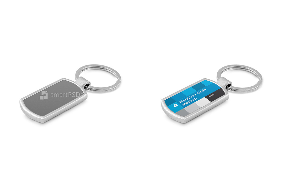 Metal Key Chain Mockup for Sublimation Design Preview example image 3