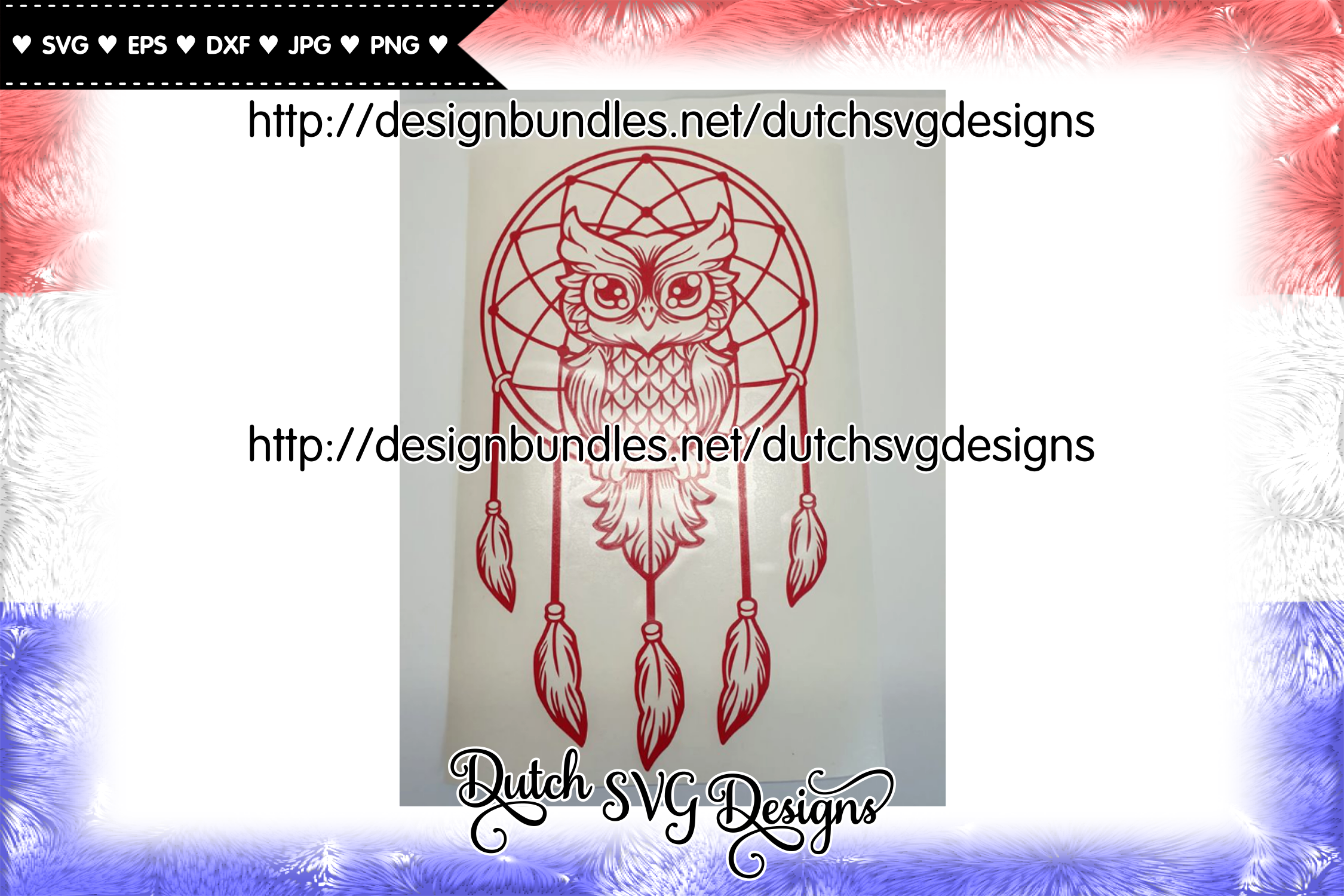 Dreamcatcher cut file with owl, dreamcatcher svg, owl svg example image 5