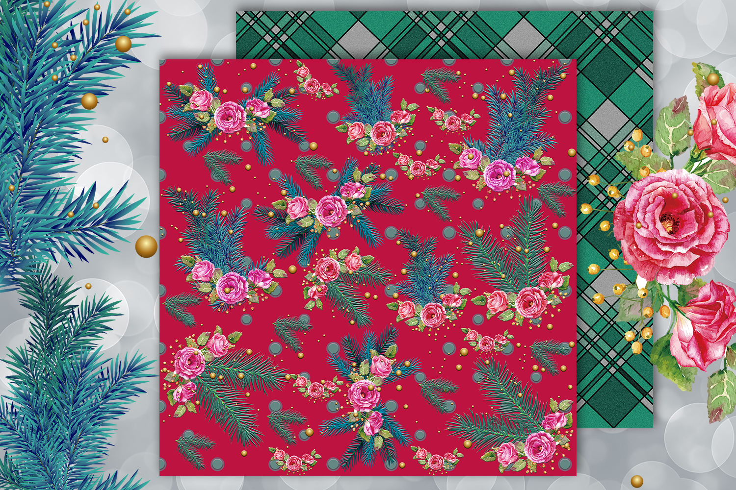 Christmas papers, jingle all the way, Scrapbook,BLACK FRIDAY example image 5