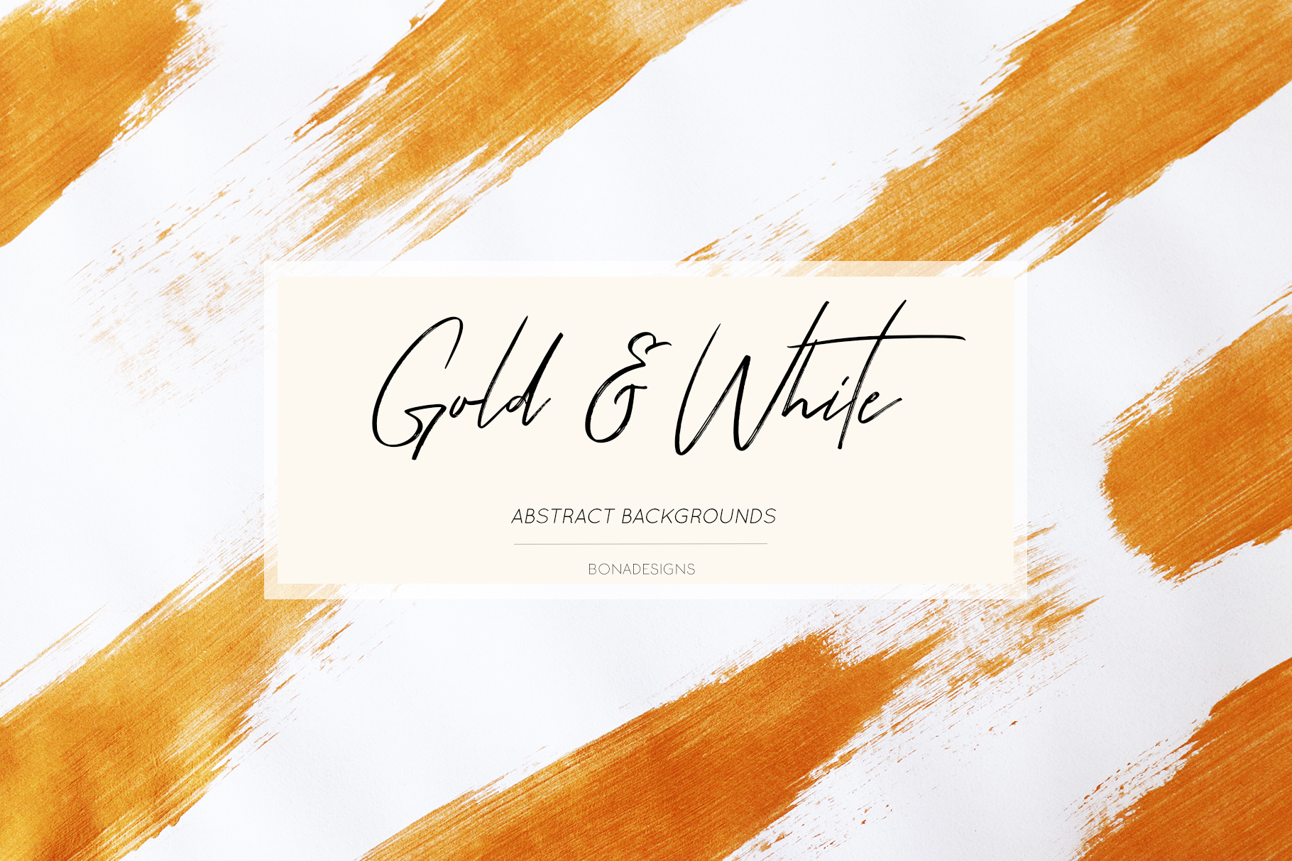 Gold & White Backgrounds, Wedding Invitation Papers example image 1