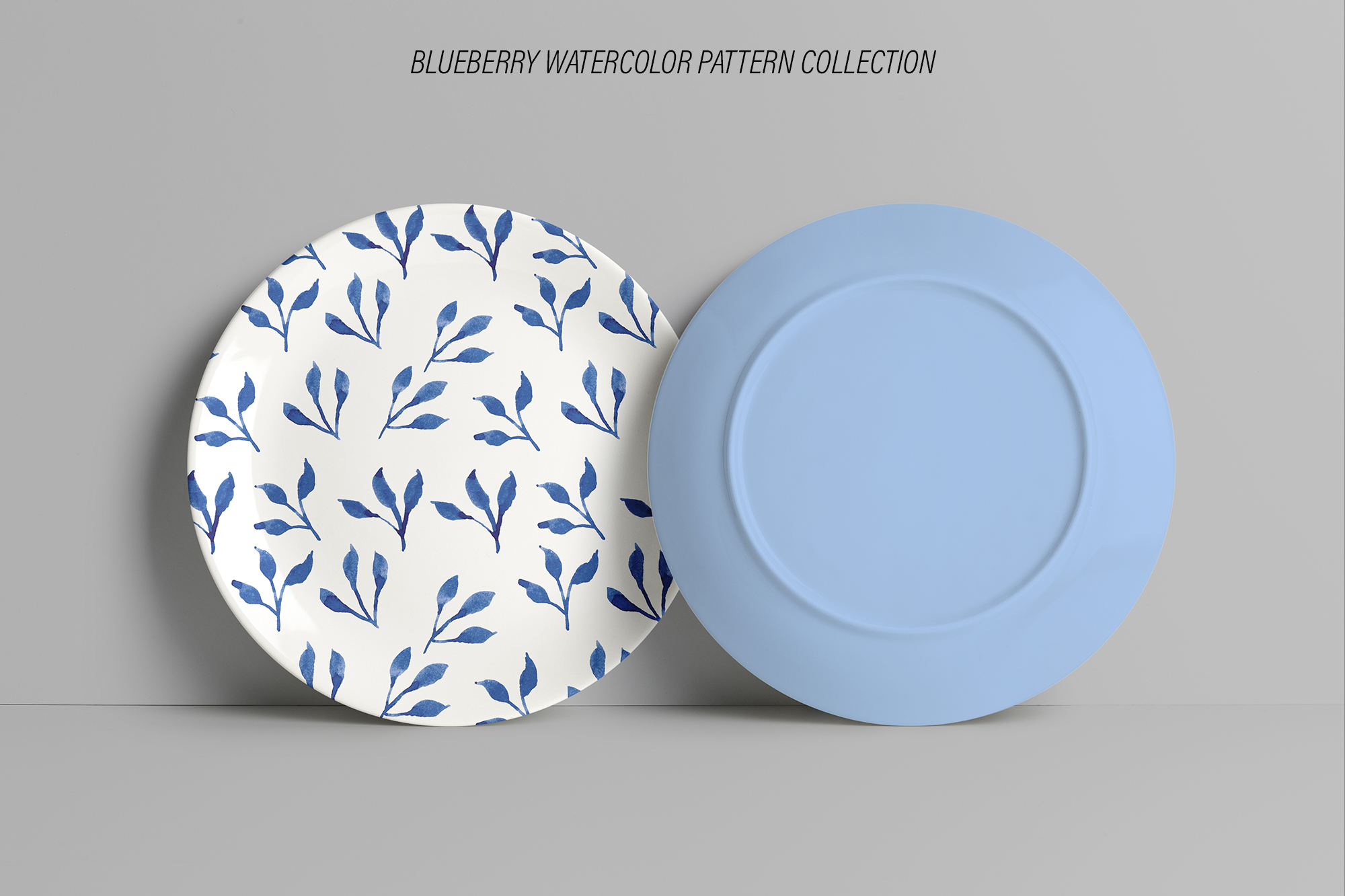 Blueberry Watercolor Pattern Collection example image 9