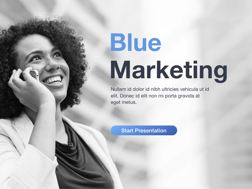 Marketing Blues Keynote Template example image 2
