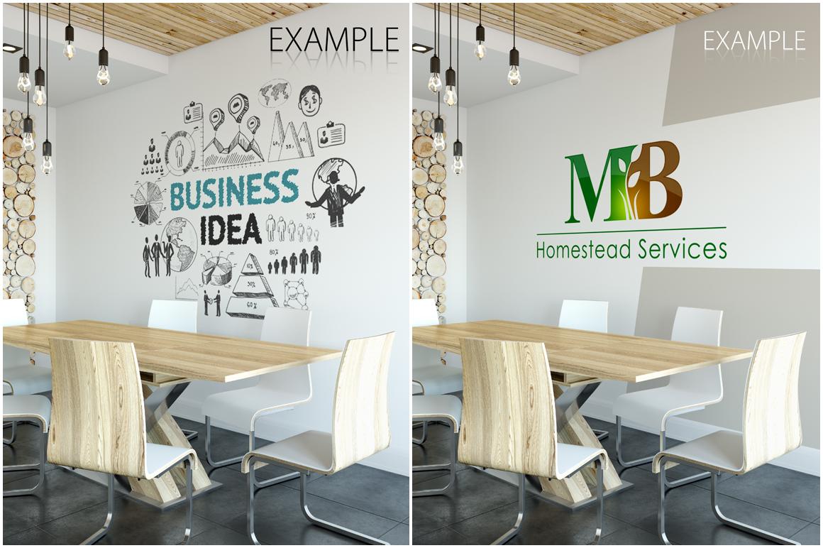 OFFICE Wall Mockup Bundle example image 17