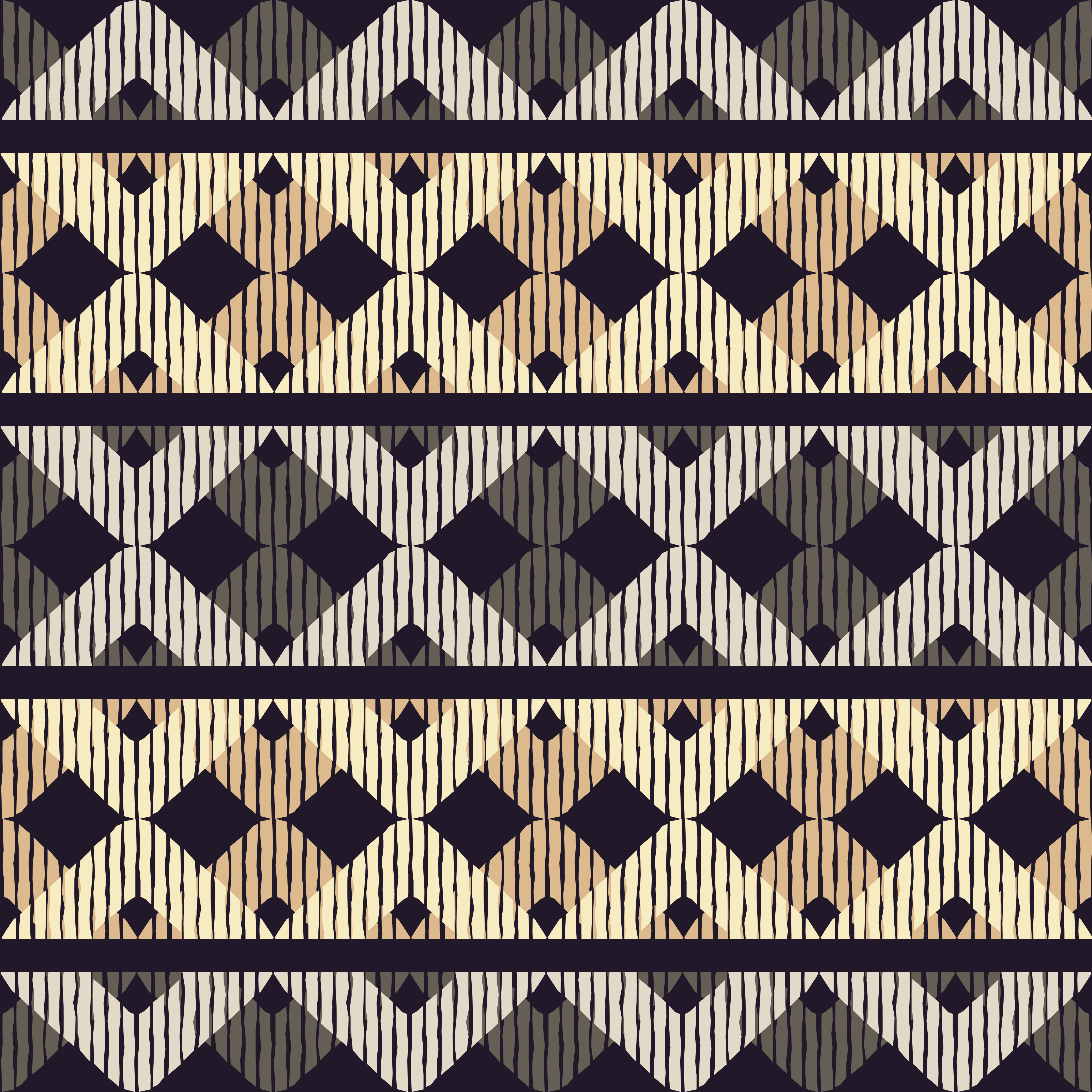 Set of 6 Ethnic boho seamless pattern. Scribble texture. Retro motif. example image 7