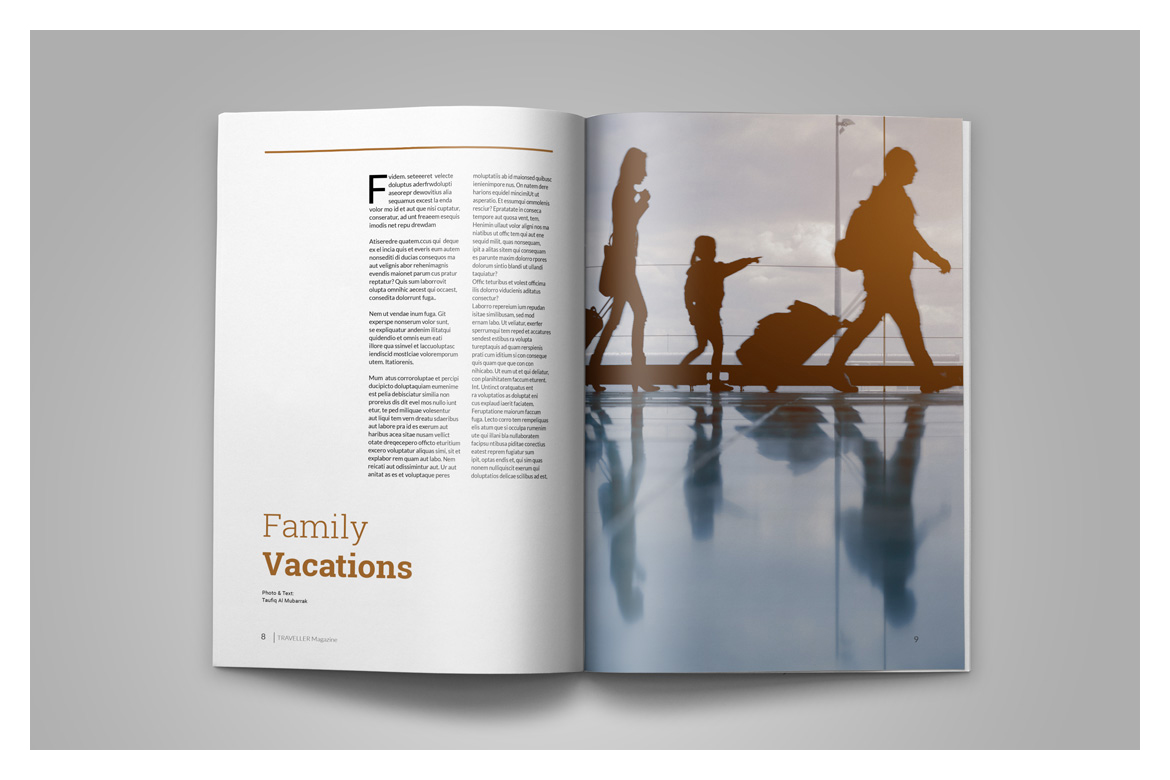 Indesign Magazine Template example image 7