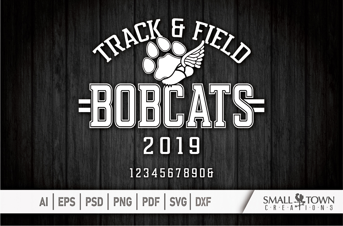 Bobcats Track and Field, bobcat mascot, PRINT, CUT, DESIGN example image 5