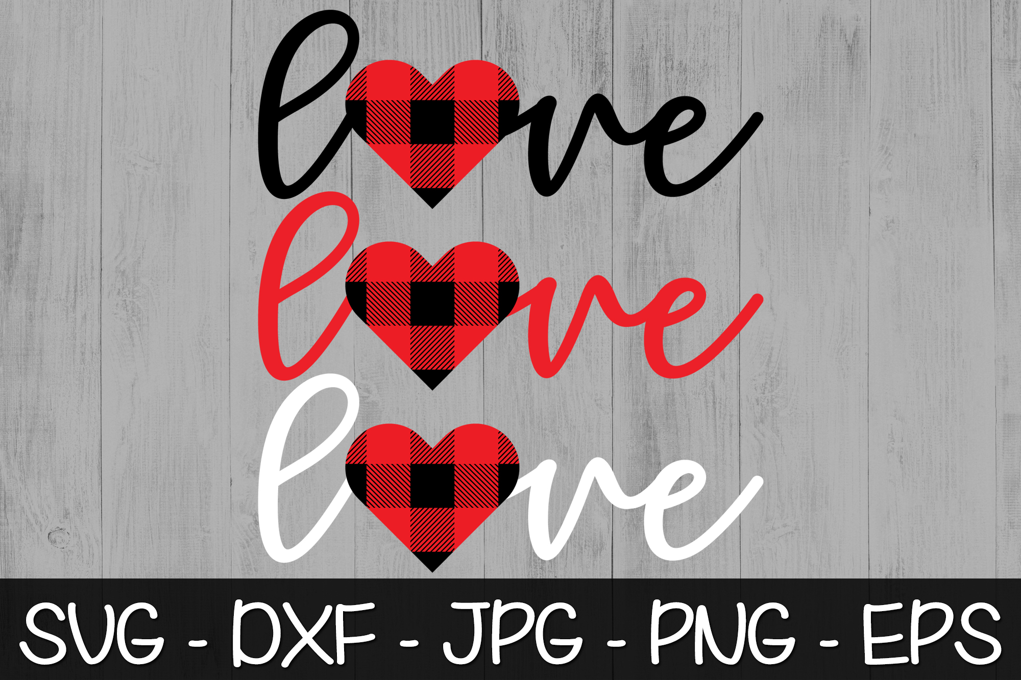 Valentines Day Buffalo Plaid SVG PNG EPS Valentine's Day SVG example image 4