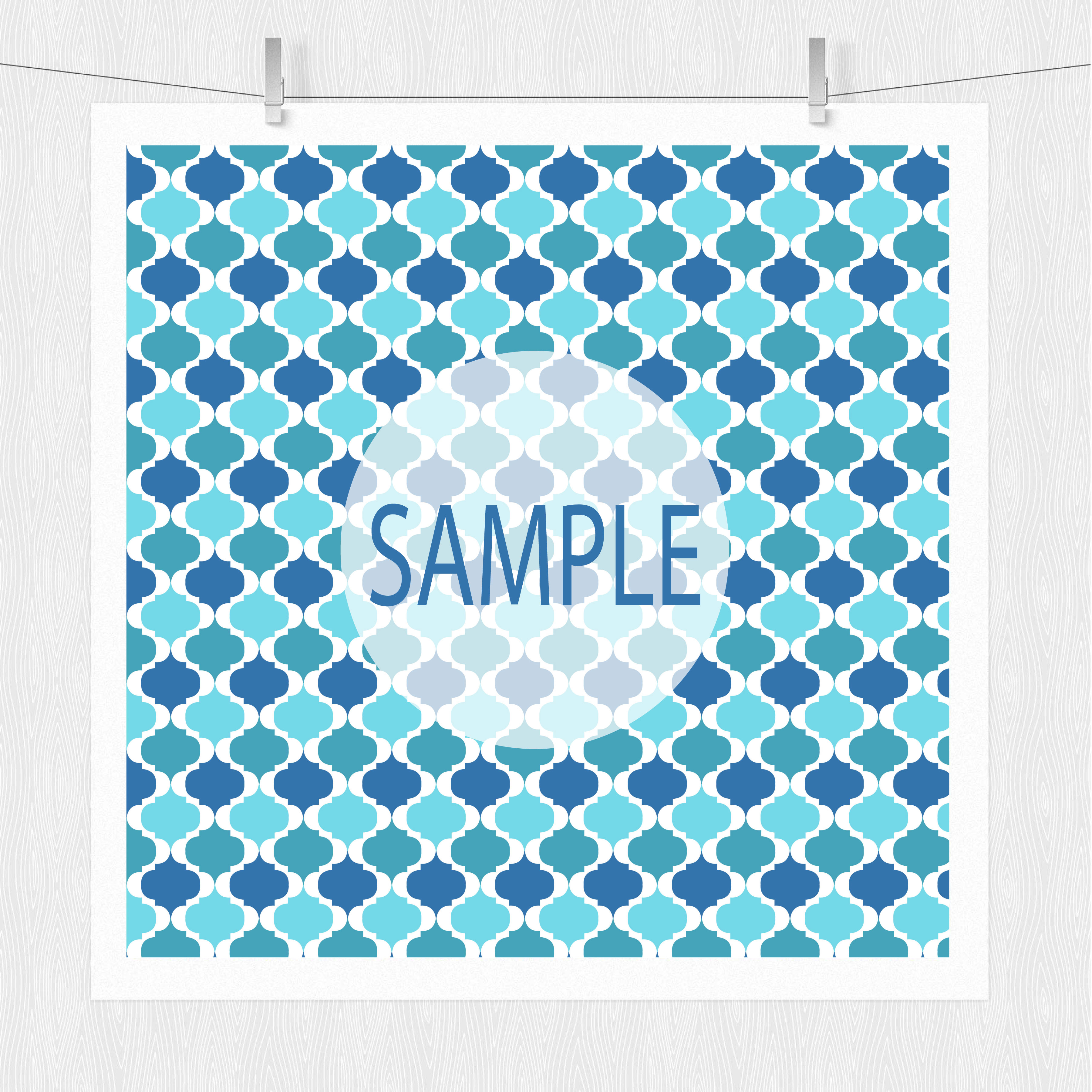 Blue Patterned Paper Pack example image 7
