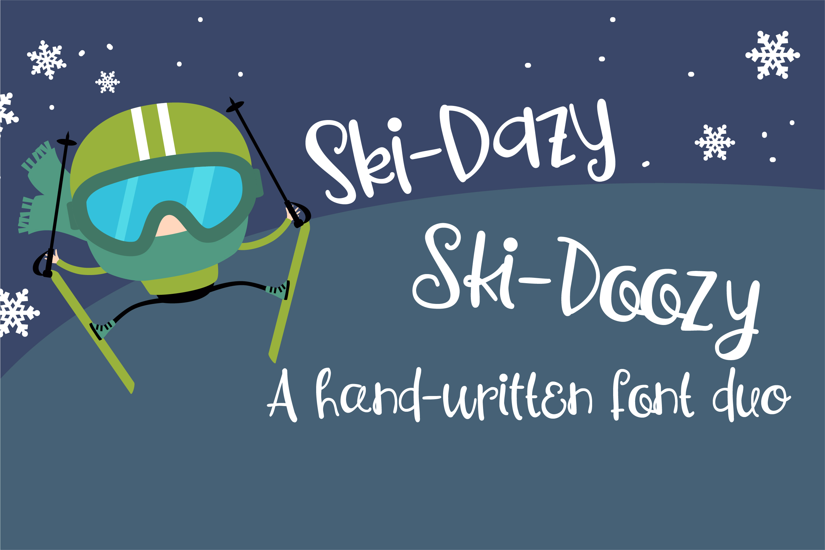 PN Ski-Doozy and Ski-Dazy Font Duo example image 1