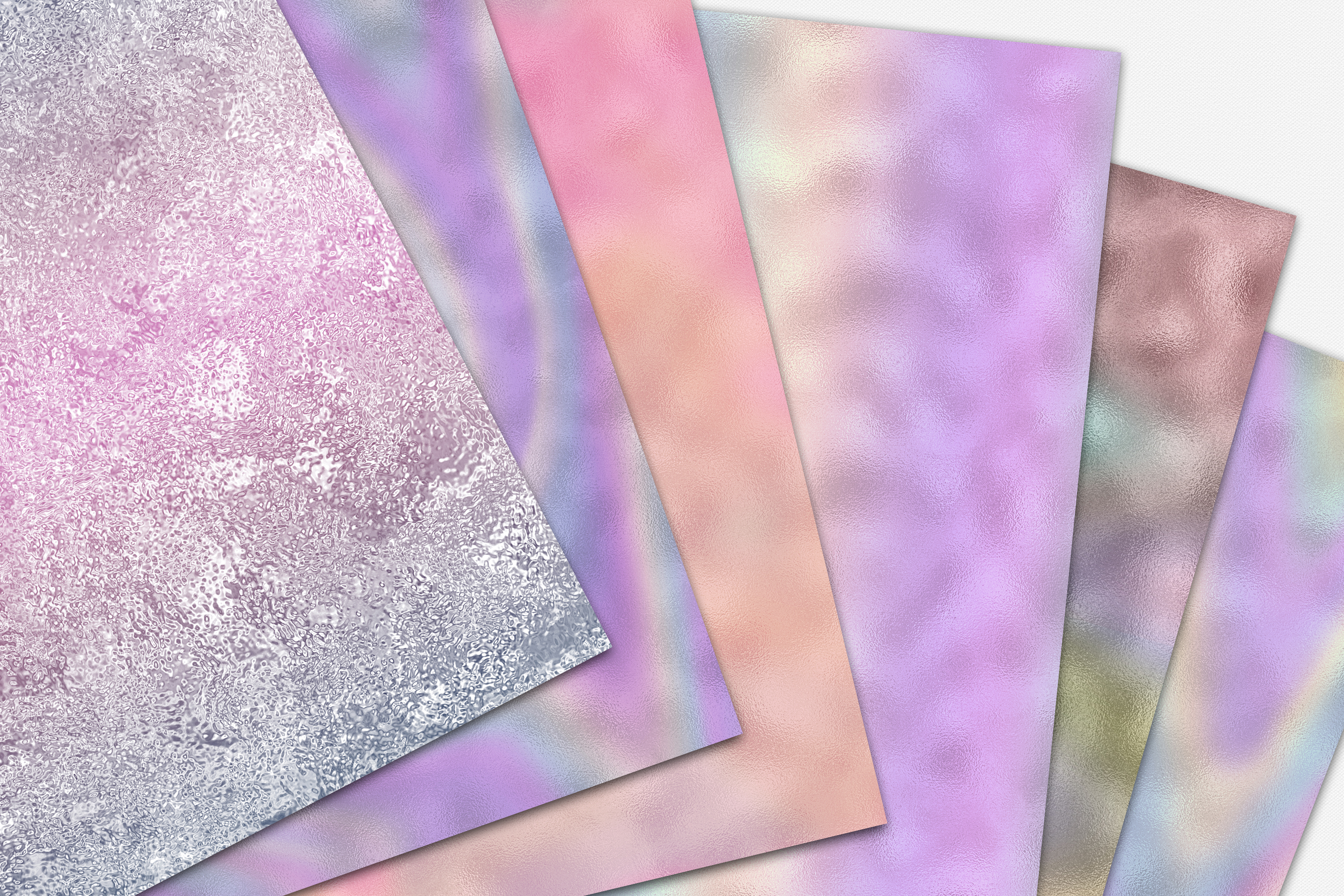 10 Iridescent Textures - Seamless Holographic Foil example image 5