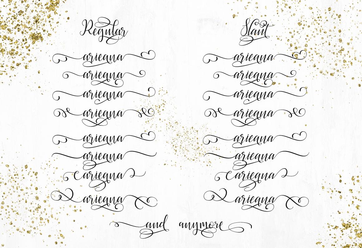 Latasha Font Family - 6 Font example image 8