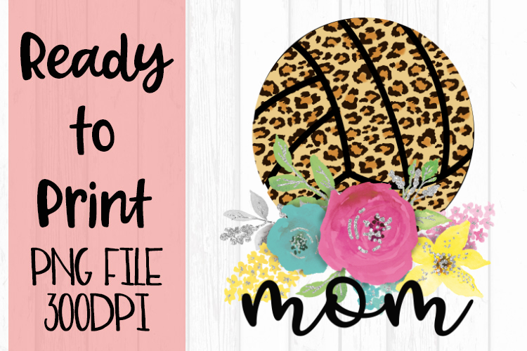 Leopard Volleyball Mom Ready to Print example image 1