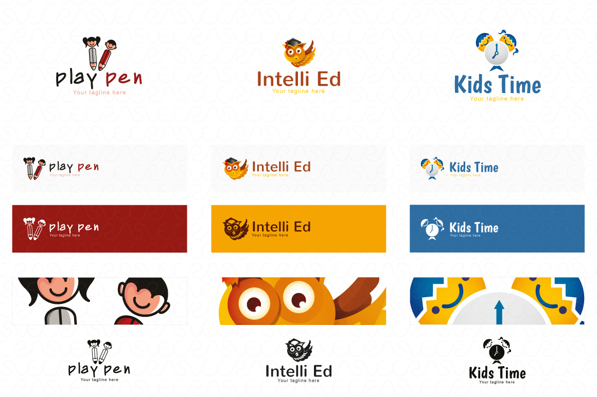 Education E-Learning & School Logo Pack of 10 Awesome Design example image 4