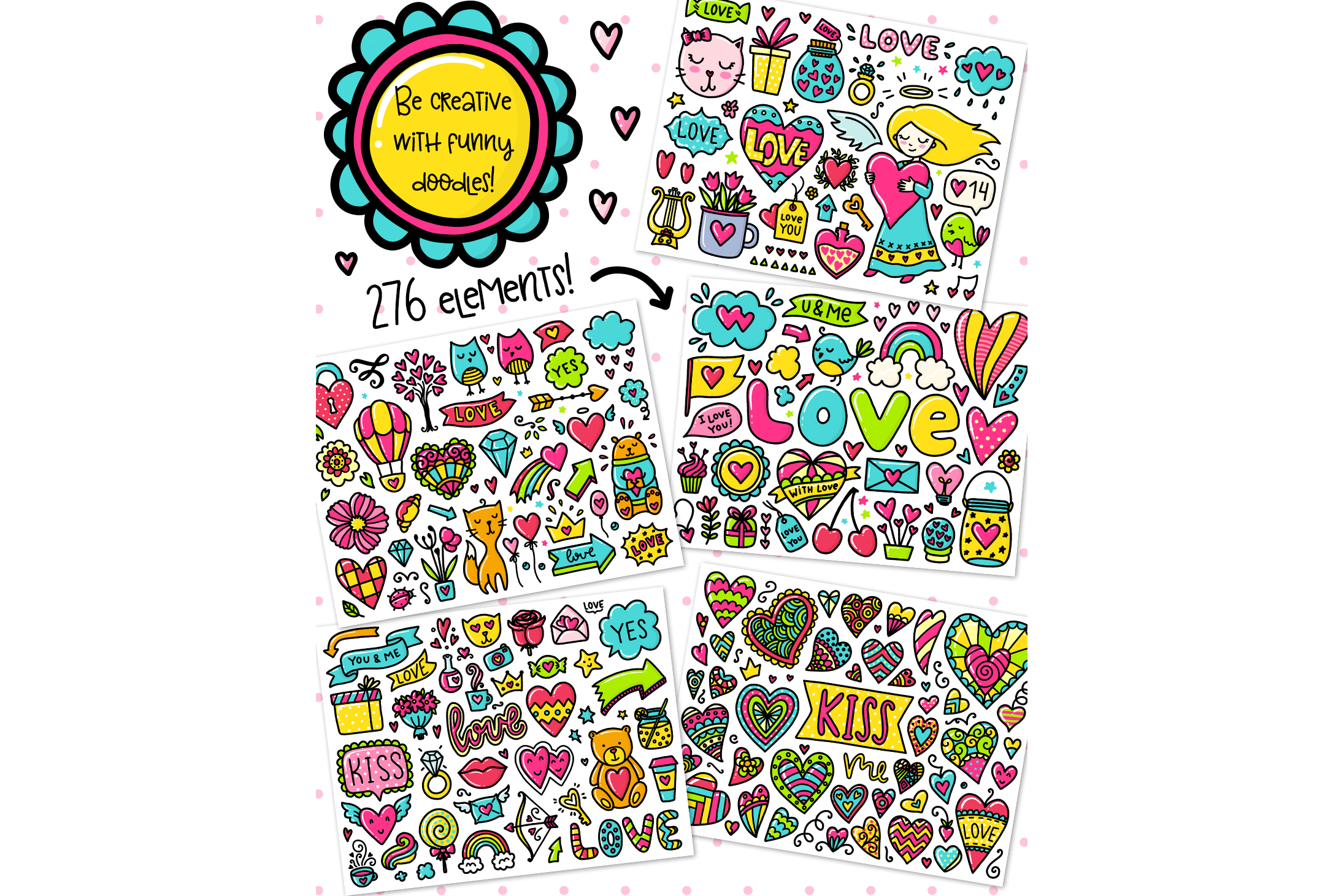 Valentine's Day Clipart & Patterns! example image 2