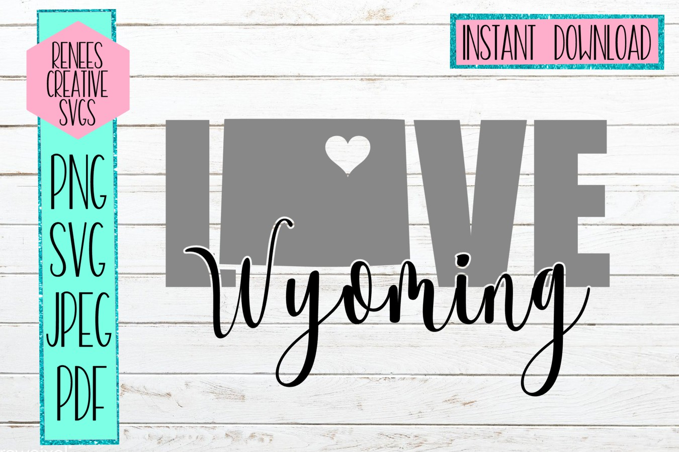 Wyoming Love   State SVG   SVG Cutting file example image 1