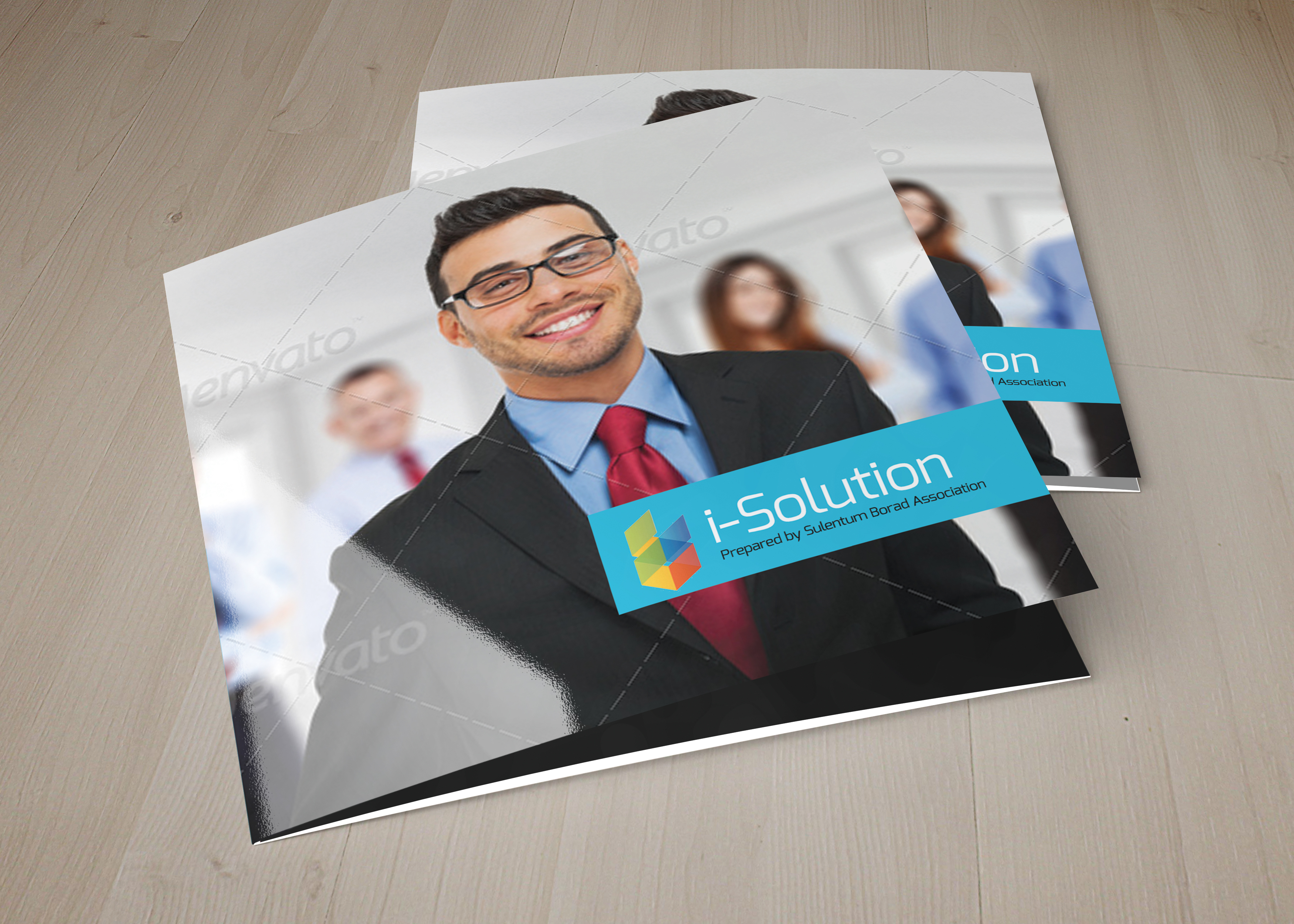 Business Management Square Trifold Brochure example image 1