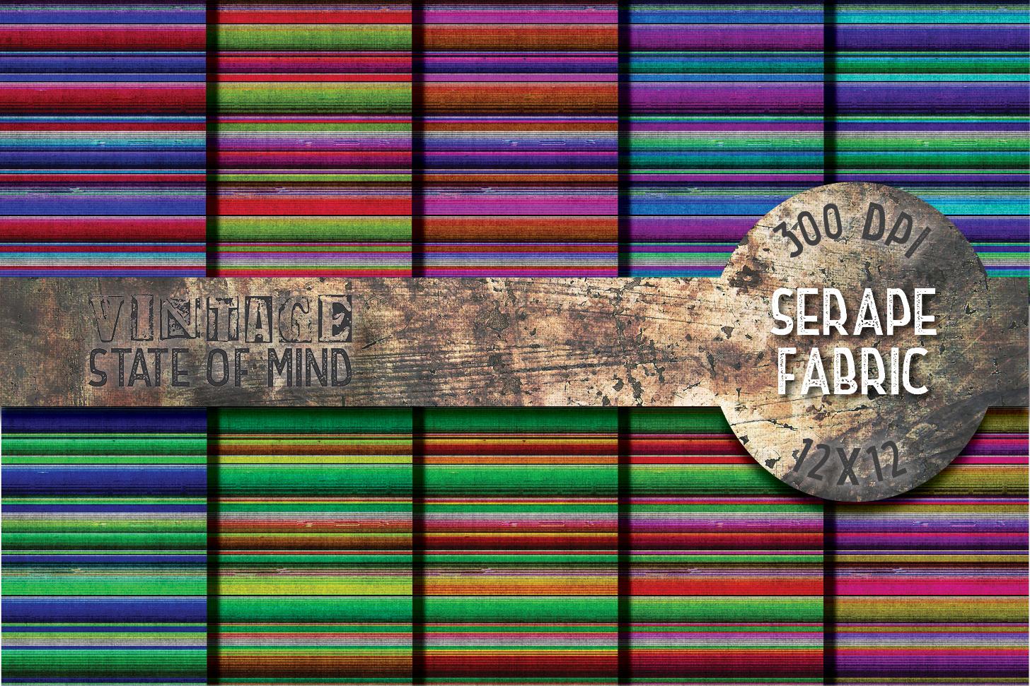Serape Fabric Digital Papers example image 2