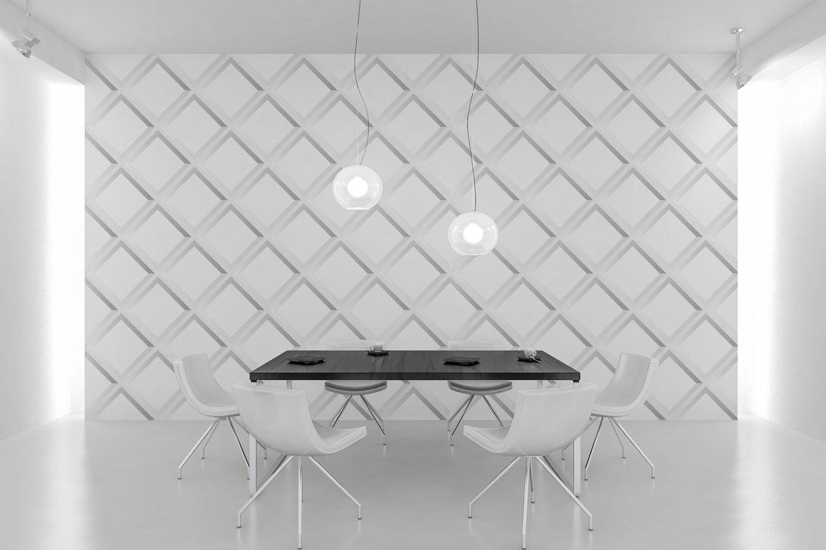 Seamless white geometric textures example image 5
