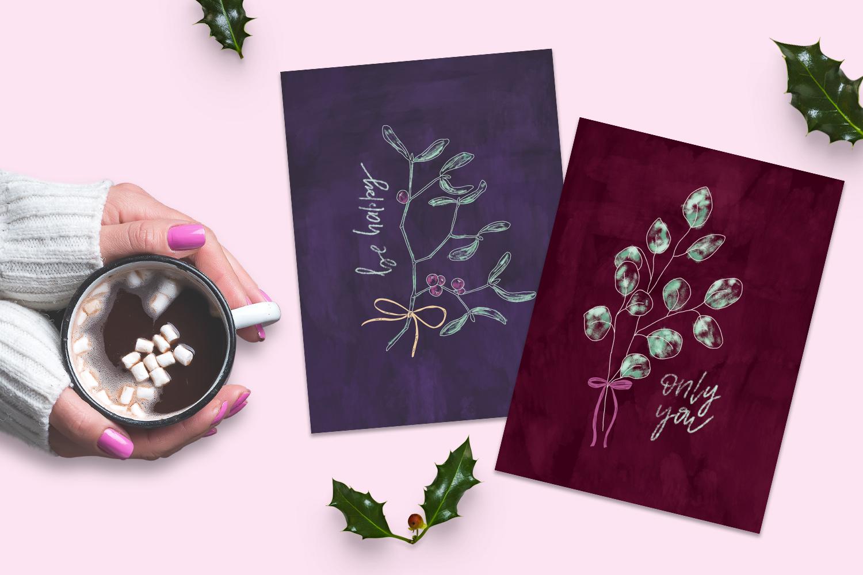 Mistletoe brush box for Procreate example image 2
