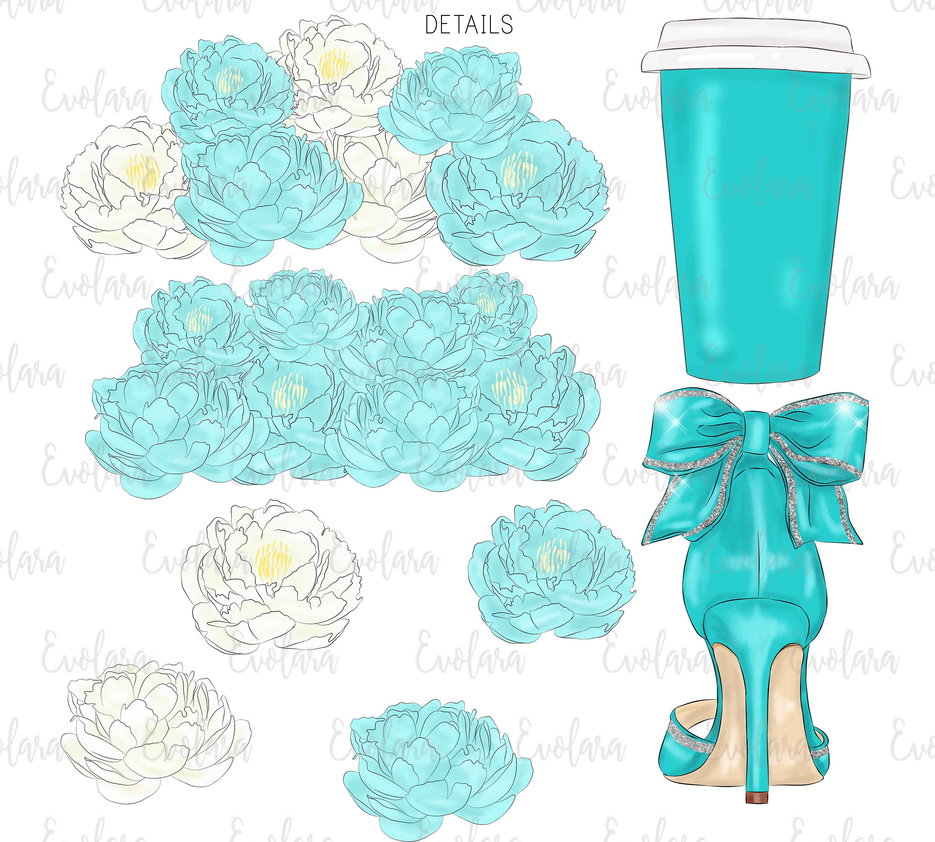Blue Mint Clipart Fashion Illustrations Breakfast At Clipart example image 6