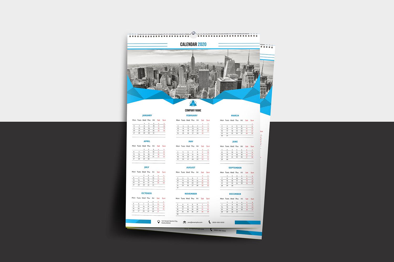 Printable Wall Calendar 2020 example image 3