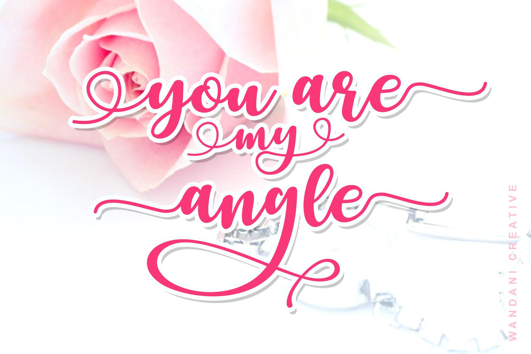 Lovely Yollandy // Script Font example image 5