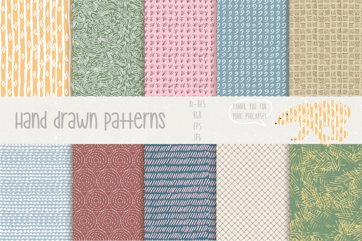 Hand Drawn Patterns #1 example image 2