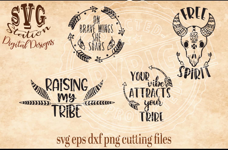 Boho Tribal Cut Files example image 1