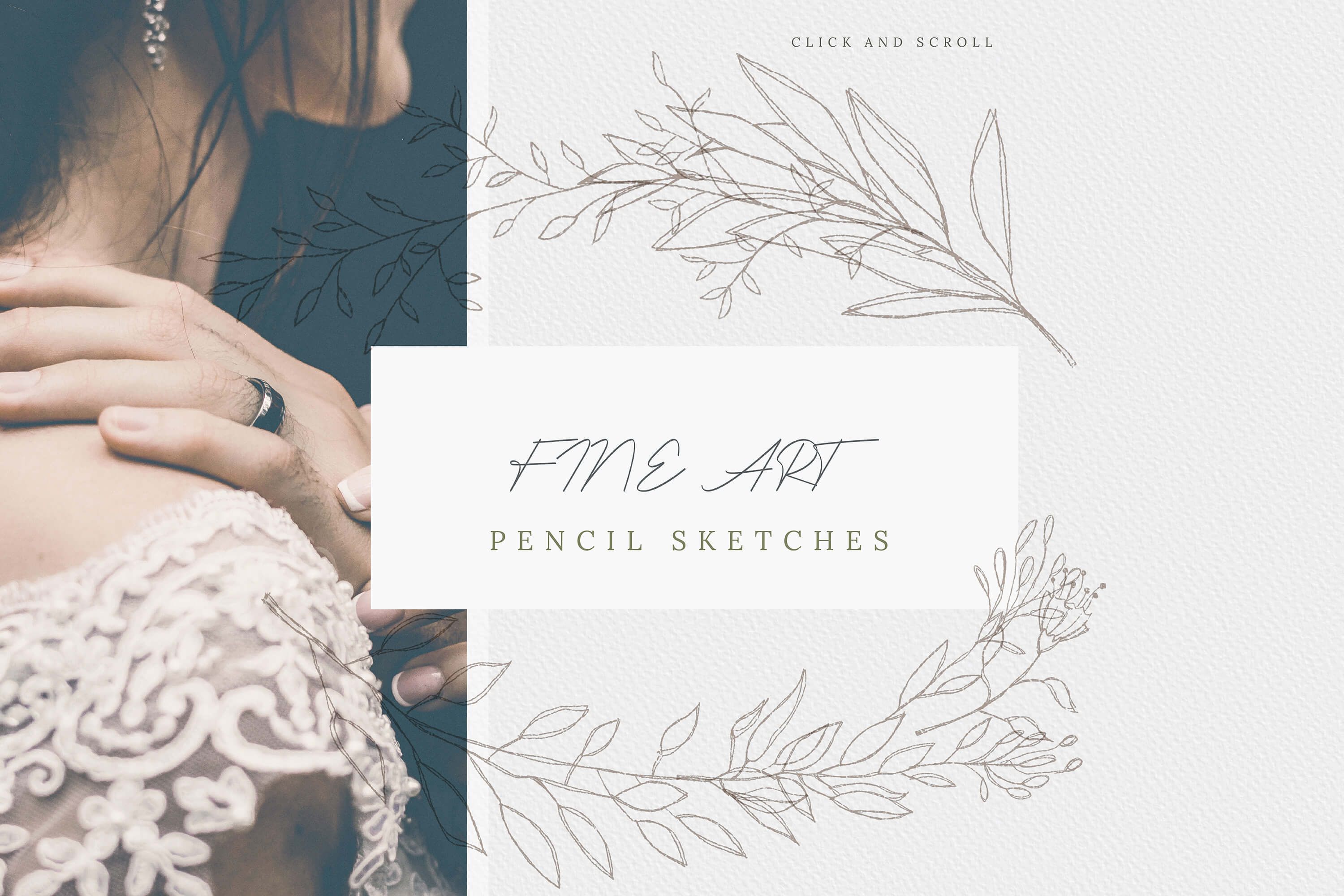 Modern Floral Pencil Sketches high res png example image 6