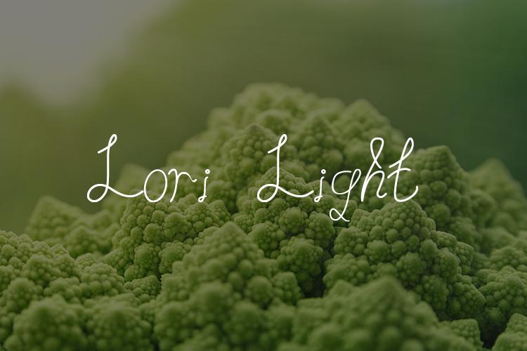 Lori Light | Font example image 2