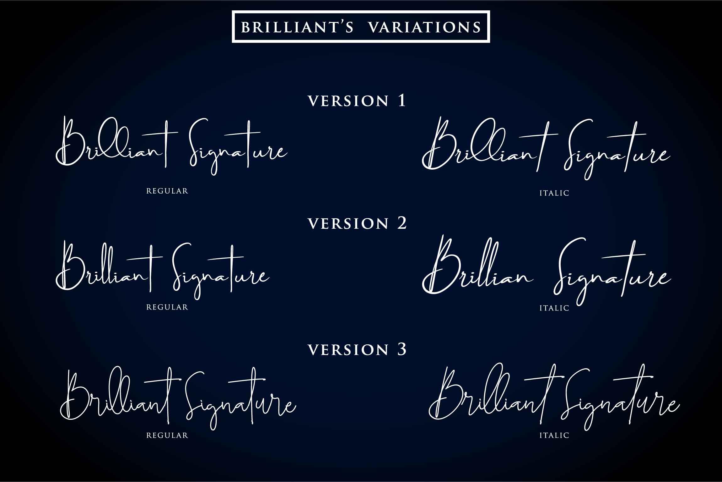 Brilliant - 3 Signature Font example image 5