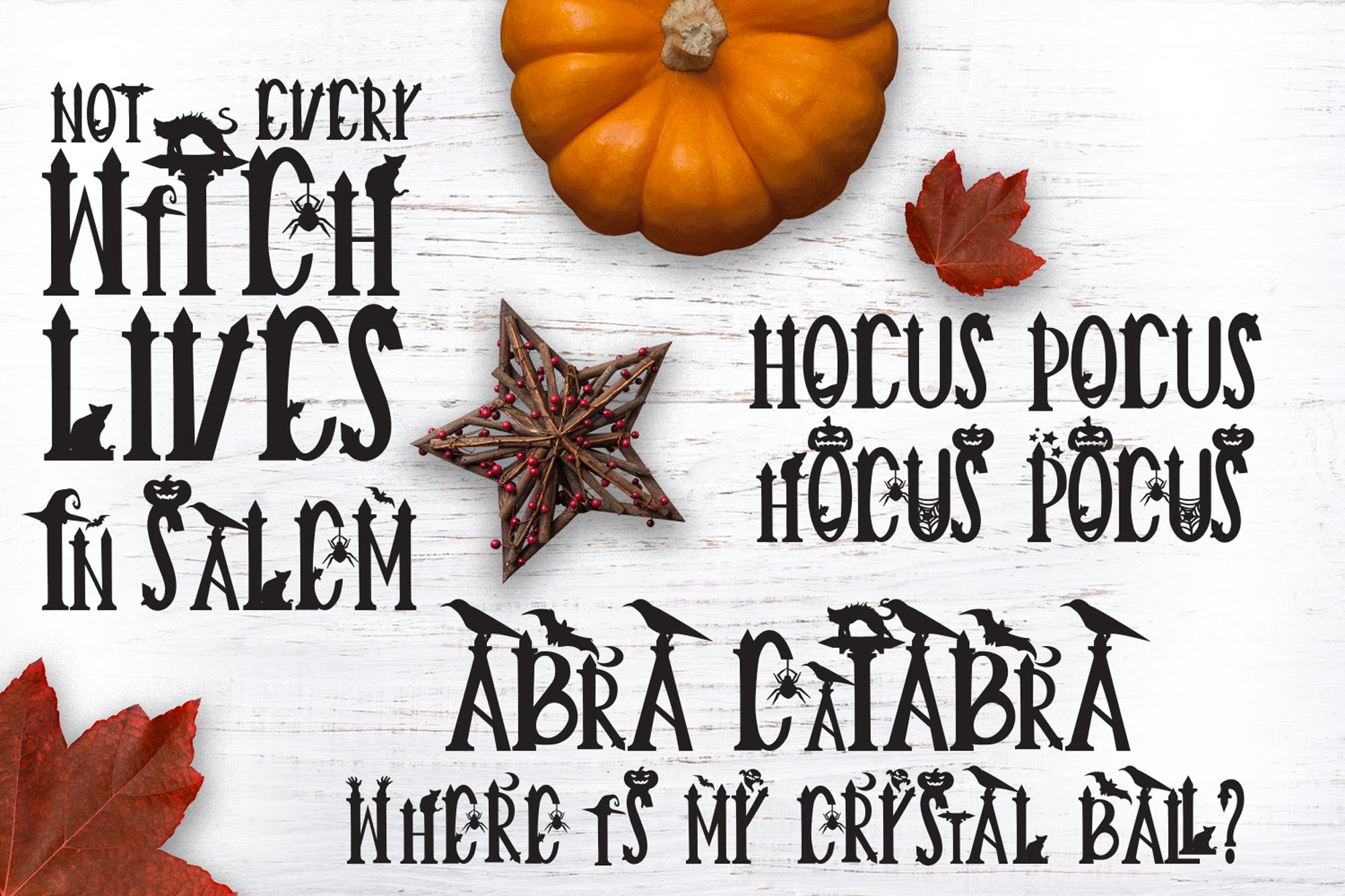 Creepy Halloween Font example image 2