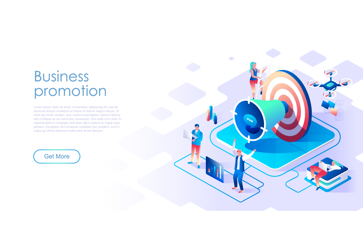 Bundle Isometric Landing Page Template Header example image 8