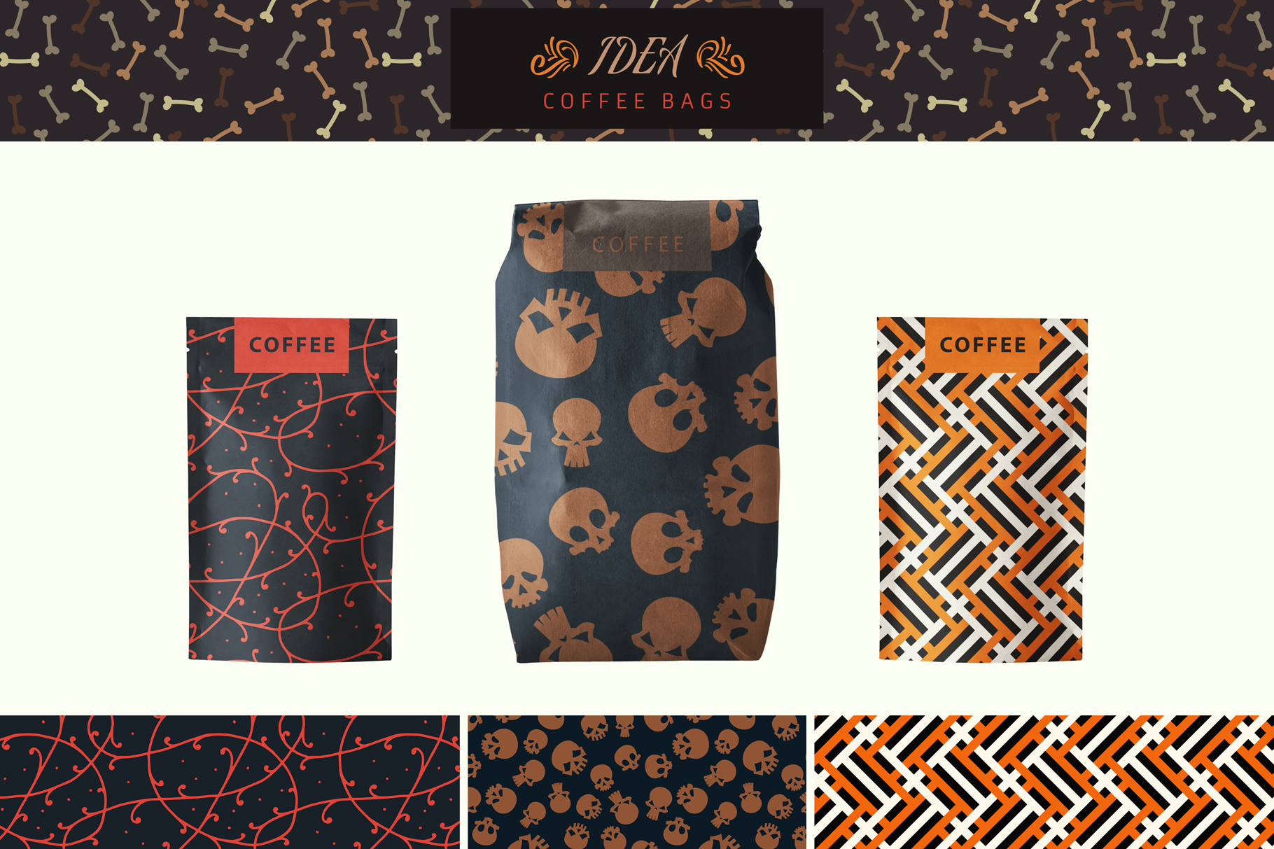 100 Seamless Patterns Vol.3 Halloween example image 25