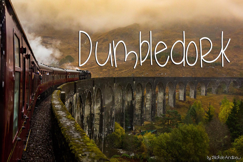 Dumbledork - A dorky font example image 1