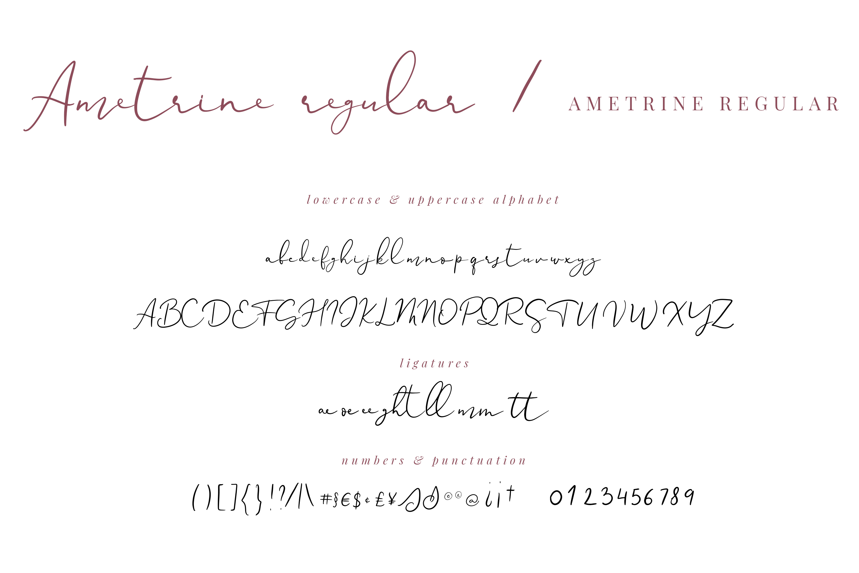Ametrine, super-casual style font example image 2