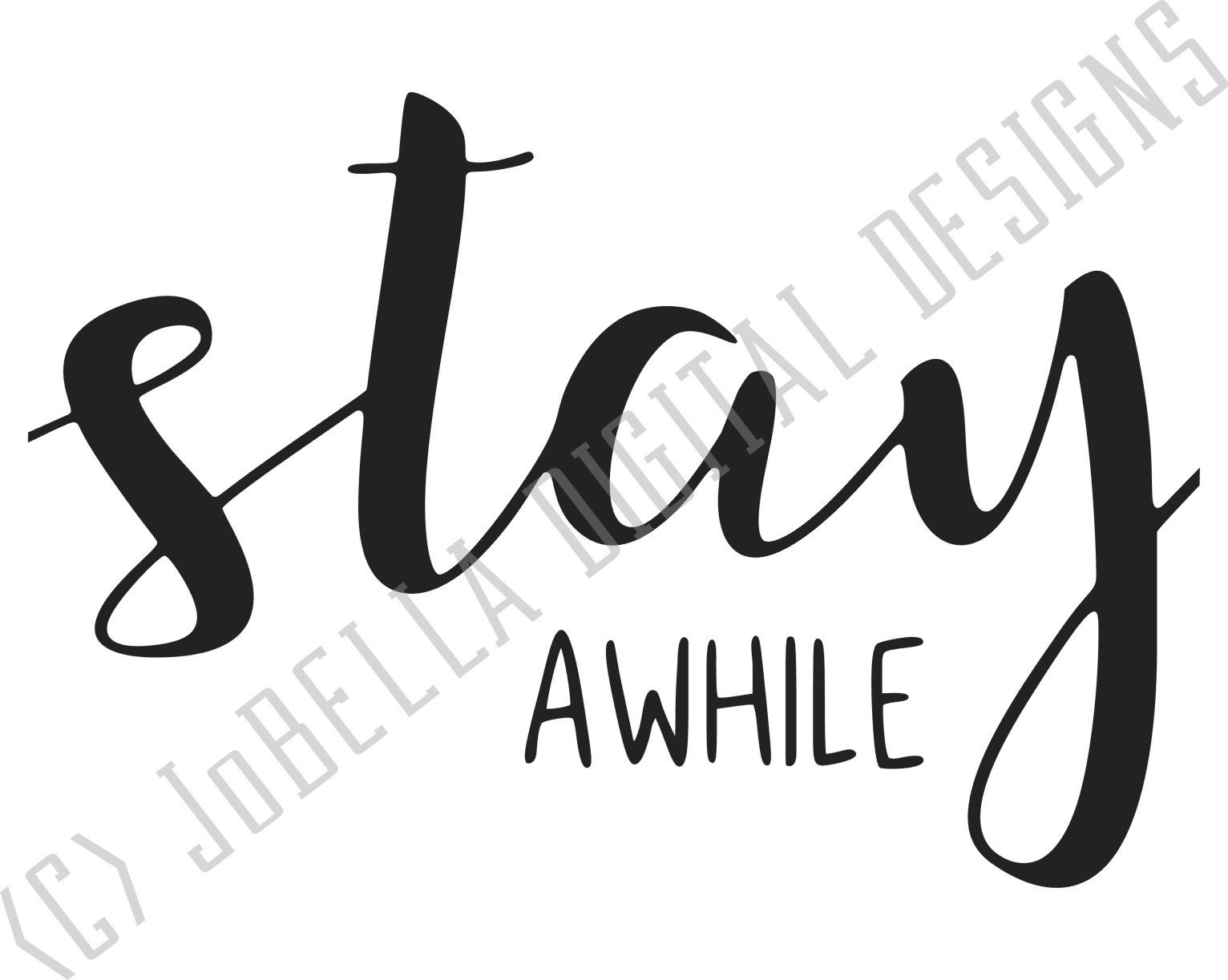 Stay Awhile SVG, Printable, & Sublimation Farmhouse Design example image 2