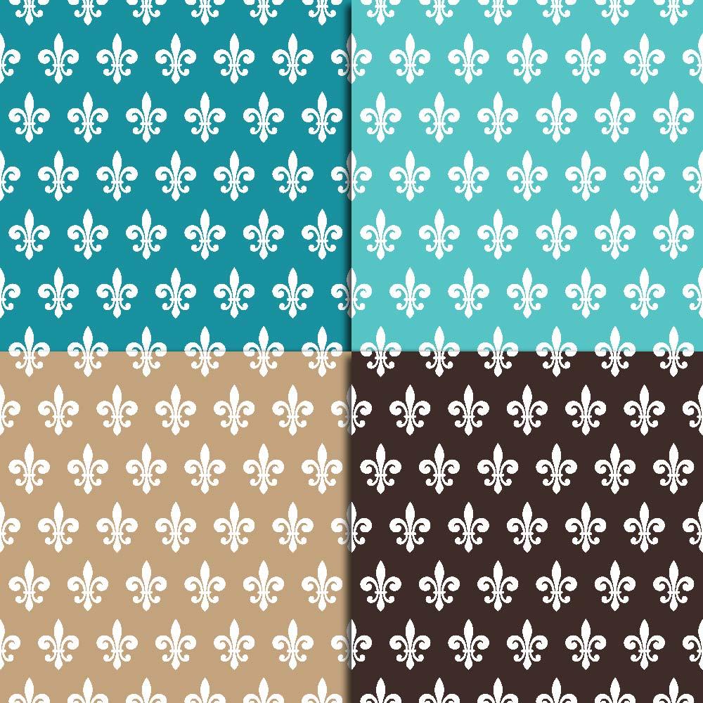Fleur de Lis Digital Paper example image 3