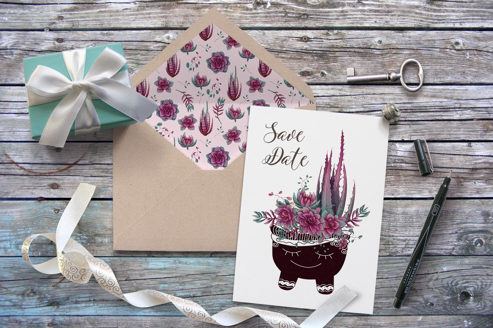 Cacti & Succulents in purple example image 9