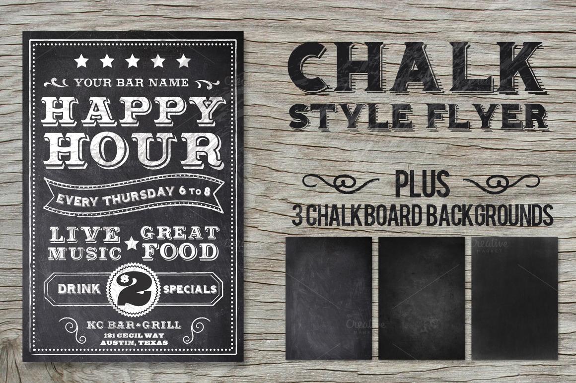 Chalk Flyer Bundle Pack example image 5